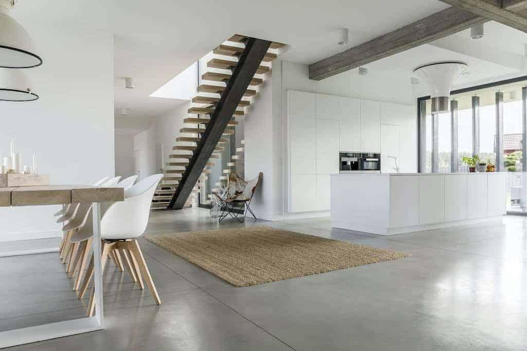 betongulv i stue