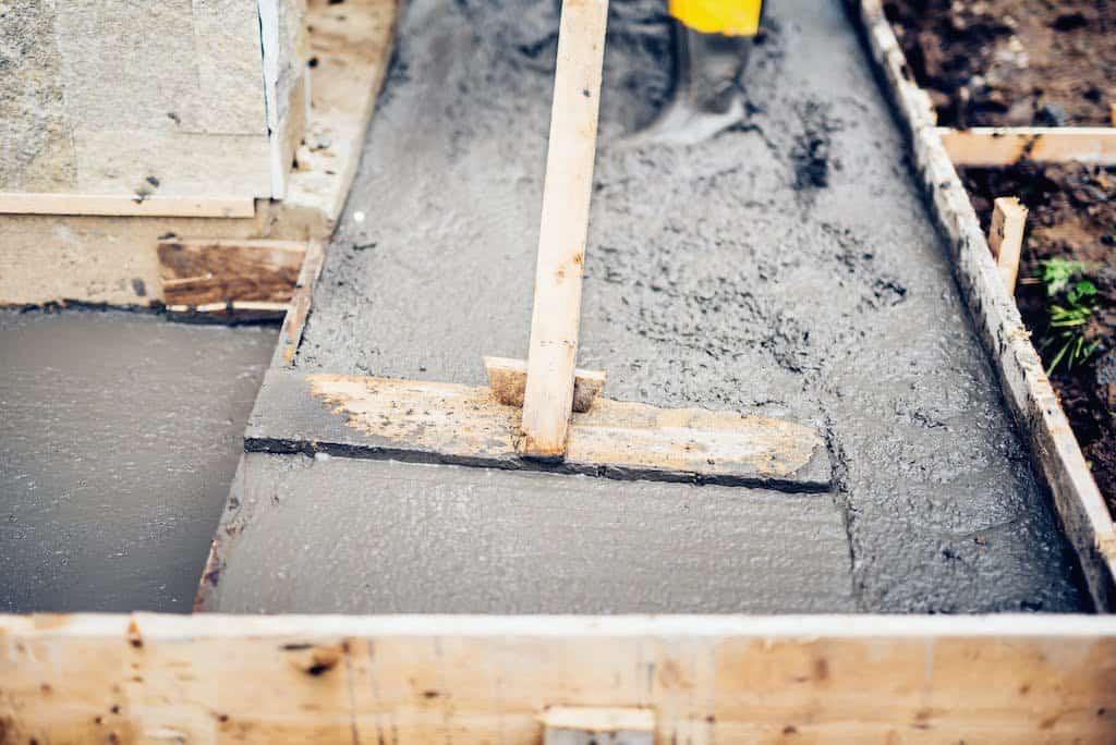 fundament glattes ud til vater