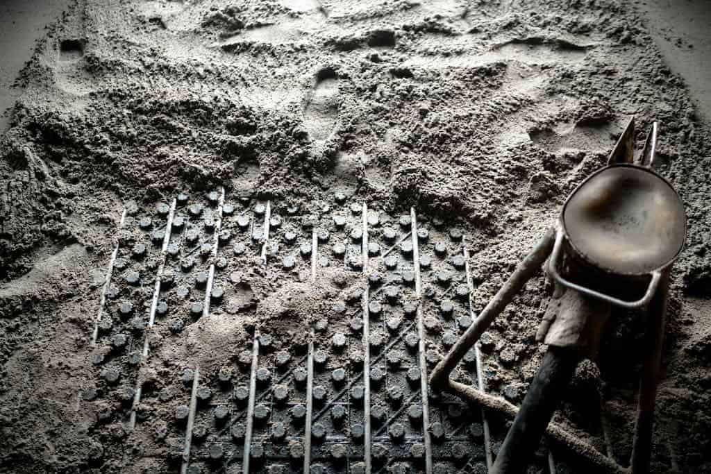 lægning af gulvarme under beton