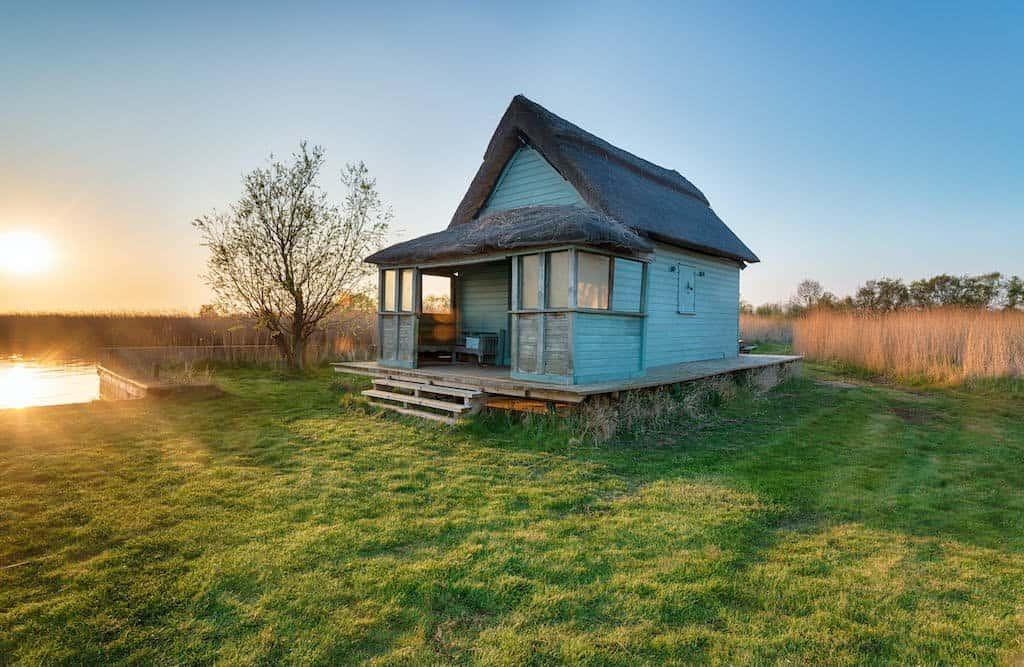 Hus bygget på skruefundament