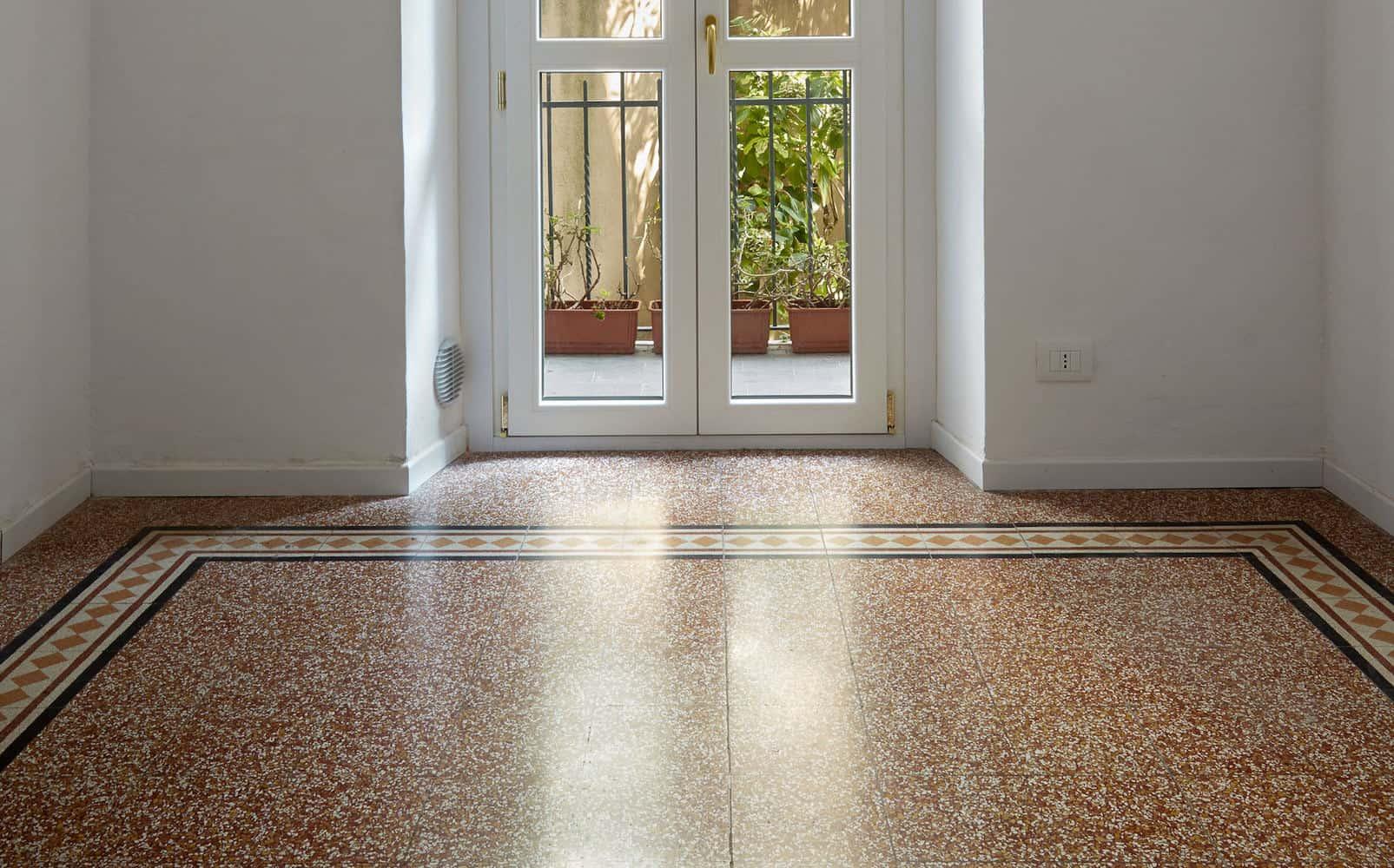 terrazzo gulv i italiensk stue