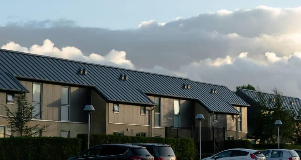 Rækkehuse med vedligeholdelsesfri facadebeklædning