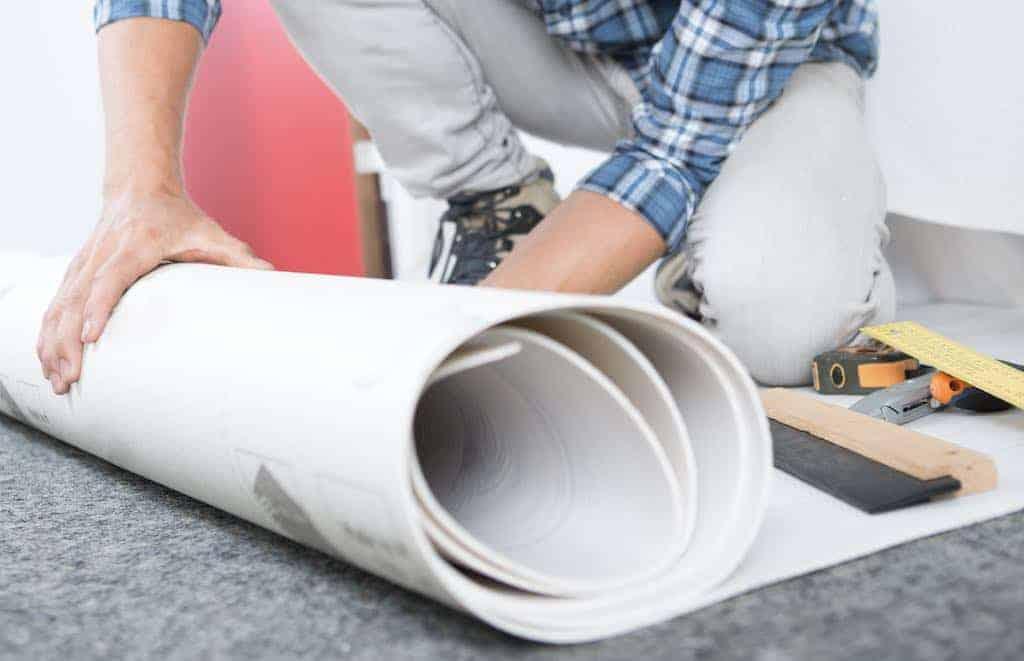lægning af Linoleum gulv