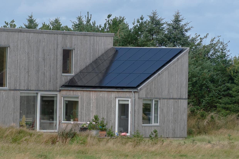 Solceller på nybygget hus