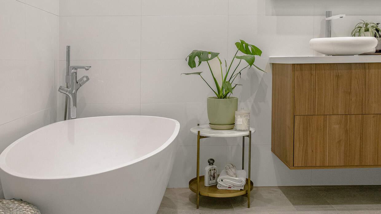 badevaerelse indrettet planter