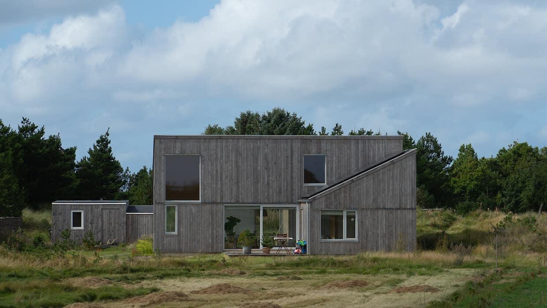 Nyt passivhus på en mark